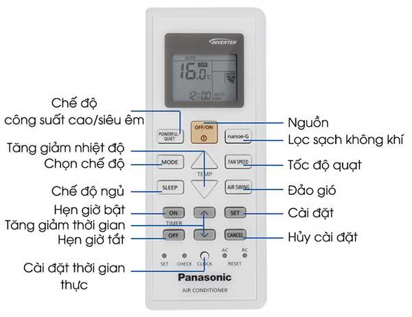 Hướng dẫn cách sửa lỗi điều khiển điều hòa Panasonic