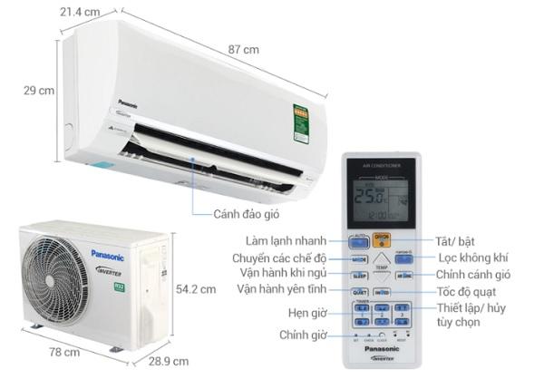 Các bộ phận trong điều khiển điều hòa Panasonic