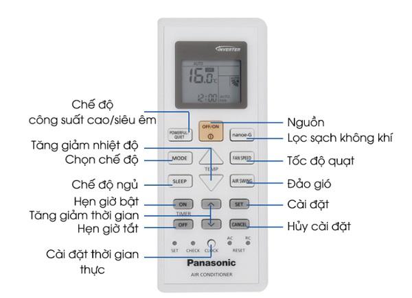 Hướng dẫn sử dụng điều khiển điều hòa Panasonic đúng cách