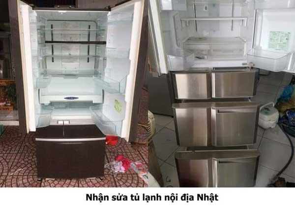 Quy trình sửa chữa tủ lạnh nội địa Nhật tại Hà Nội