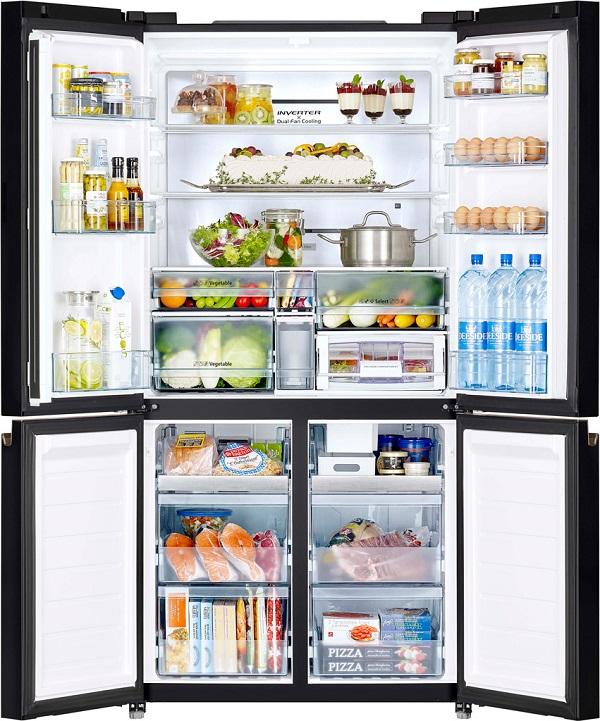 Rau củ, thực phẩm trong tủ bị đông cứng