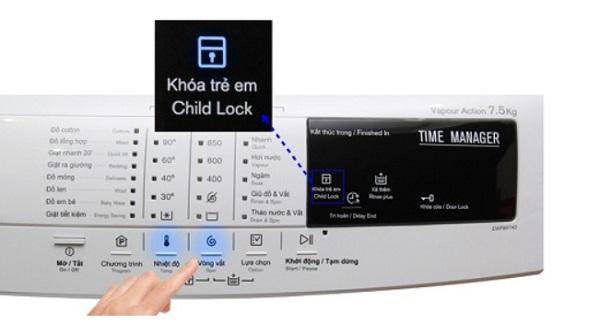 Nguyên nhân máy giặt electrolux bị khóa và cách nhận biết