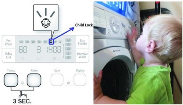 Chức năng khóa máy giặt hay gọi chung là chức năng khóa trẻ em là gì?