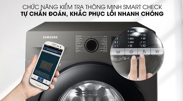 Cách test lỗi máy giặt Samsung sử dụng chức năng smart check