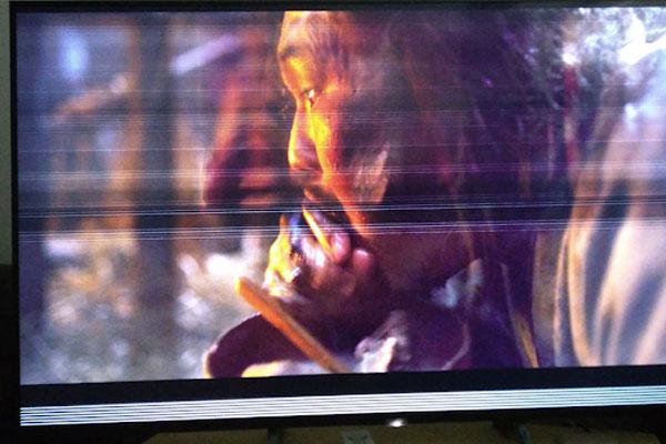 Sửa tivi LG bị sọc ngang màn hình